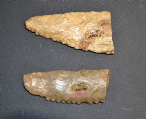 A good pair of finely worked Neolithic  Pre-Dynastic Egyptian partial flint sickles (EG6 & 7) SOLD